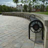 Radius seating for Headland Town Square