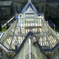Glazing rafter repairs for Alton Towers