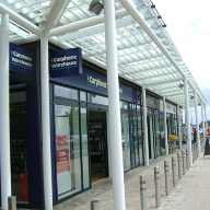 Covered walkway for Cardiff Retail Park