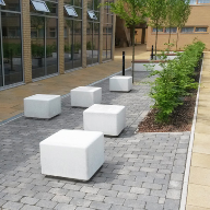 Street furniture for Leicester Uni