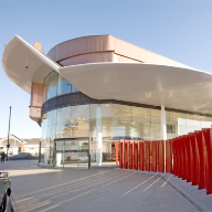 Laser-Line Bullnose Fascia used on Bus Station
