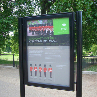 Post mounted noticeboards for The Royal Parks