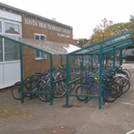 Cycle parking solution for Haven High