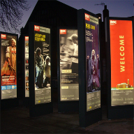 Poster cases for Royal Shakespeare Company