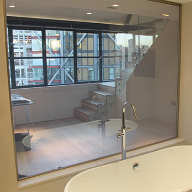 LCD privacy glass for interior design