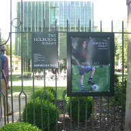 Poster cases for Holburne Museum, Bath