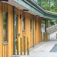 ThermoWood® cladding for Tower Wood educational centre