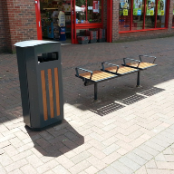 Erlau Topsit benches and Cambio litter bins for Gosport