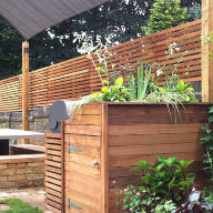 Silva Timber's Western Red Cedar Slatted Screens