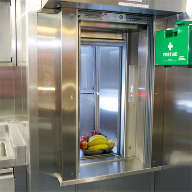 Microlift 50kg combination dumbwaiter supporting Irish Navy