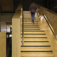 Garda LED illuminated handrails for Manchester University