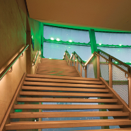 LED handrail specified at The SSE Hydro arena, Glasgow