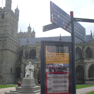 Signage solution for Exeter Cathedral