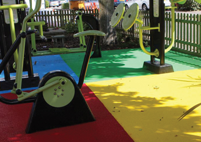 New safety surfacing product suitable for play areas
