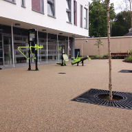 Surfacing for Garden Zone at Nottingham City Hospital