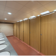 Amwell Splash Cubicles at Aberystwyth University