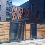 Telescopic Tracked Sliding Gate for student accommodation