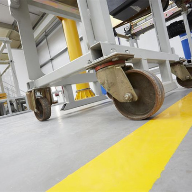 Flowcrete MF polyurethane resin floor finish for Street Crane