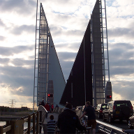 Architectural mesh for Twin Sails Bridge