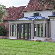 Bronze Casements & Doors for conservatory extension