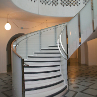 Curved Glass balustrade for Tate Britain Rotunda staircase