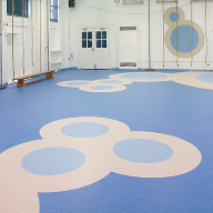 Stylish floor design captivates school pupils