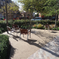 Resin bound surfacing at Leicester Cathedral Gardens
