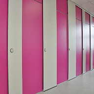 Privacy cubicles at Thornton Grammar School