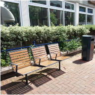 Erlau Topsit Benches & Cambio Litter Bins for Gosport Borough Council