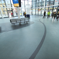 Decorative Resin Flooring for bus terminal