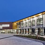 Alu-Timber EFT Curtain Walling for Wells School