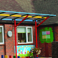 Creative canopy to protect parents from the elements