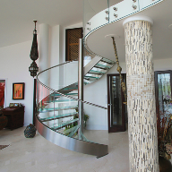 Spiral staircase for Parliament View Penthouse