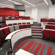Striking Harvard Lecture Theatre seating for University