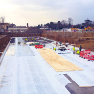 Waterproofing a housing development on old rugby grounds