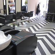 Expona flooring adds the finishing touches to hair salon