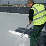 Wecryl sprayable waterproofing for Aldersgate Tower