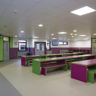 Polysafe Verona for The Sutton Academy dining hall