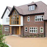 Decorative leaded light windows for Surrey new-build