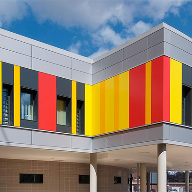 Proteus rainscreen panels for University Hospital