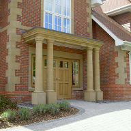 High-quality cast stone porticos add style & value