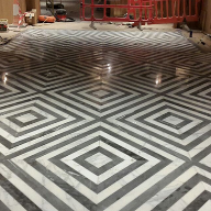 Terrazzo flooring for Percy & Founders restaurant