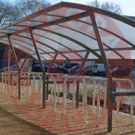 Cambridge shelter from AUTOPA for cycle storage