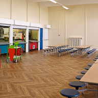 Expona Flow flooring adds impact to school dining hall