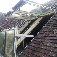 FAKRO Balcony Window ideal for Kent peg tile roof