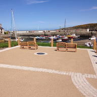 RonaDeck Resin Bonded Surfacing chosen for Cemaes Bay
