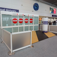 KONE sliding doors & enclosure pod at Newcastle Airport