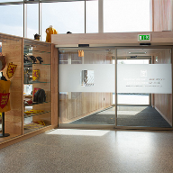 Geze automatic doors for Bannockburn Visitor Centre