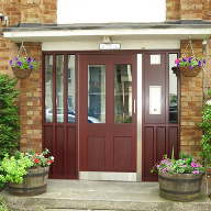Timber security doors for housing association