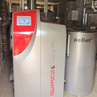 SOLARFOCUS log wood boiler for Borley Mill